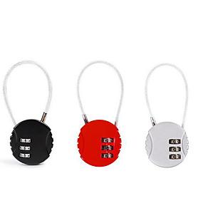 olcso Mechanical Locks-társvezeték vezeték kód zár utazási utazás lopásgátló poggyászzár hátizsák lakat tornaterem zár mini fiókzár