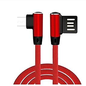povoljno Nova kolekcija-micro usb kabel 1,0 m (3ft) pletenica / brza brzina / najlon brzo napunjenje / abs + pc usb kabelski adapter za samsung / huawei / xiaomi