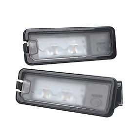 Недорогие Аксессуары для автоосвещения-Светодиодный задний номерной знак света лампы для VW Beetle Polo Golf MK7 без ошибок