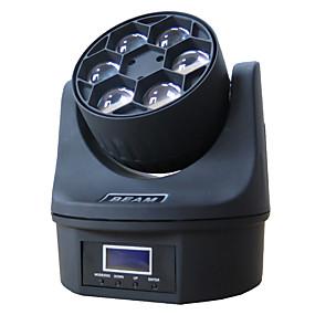 olcso Otthon & kert-1 készlet vezetett színpadfény dmx512 hangvezérlés 6 gyöngyszem mozgó fejjel fények fények dj bár bálterem dekoráció fények