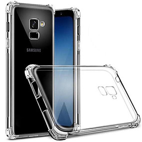 voordelige Galaxy S7 Edge Hoesjes / covers-hoesje Voor Samsung Galaxy S9 / S9 Plus / S8 Plus Stofbestendig / Transparant Achterkant Transparant Zacht TPU