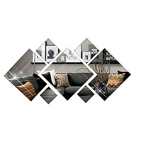 povoljno Ukrasne naljepnice-3d modni dijamantni ukrasni zidni naljepnice - ogledalo zidne naljepnice oblika studija soba / ured / blagovaonica / kuhinja