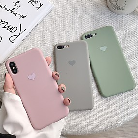 voordelige iPhone 11 Pro Max hoesjes-hoesje voor apple iphone xr / iphone xs max patroon achterkant hart soft tpu voor iphone x xs 8 8plus 7 7 plus 6 6s 6 plus 6s plus