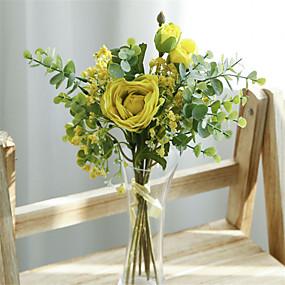 رخيصةأون أزهار اصطناعية-زهور اصطناعية 7 فرع كلاسيكي أوروبي Wedding Flowers الورود ورادت ناعمة أزهار الطاولة