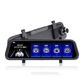 voordelige Auto DVR's-K50 720p / 1080p HD Auto DVR 170 graden Wijde hoek CMOS 10 inch(es) IPS Dash Cam met Nacht Zicht / G-Sensor / Parkeermodus Autorecorder