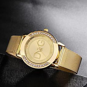 저렴한 쿼츠 시계-여성용 석영 사치 새로운 도착 실버 골드 스테인레스 스틸 석영 골드 실버 크로노그래프 귀여운 캐쥬얼 시계 1 세트 아날로그 1 년 배터리 수명 / 모조 다이아몬드