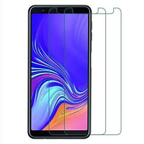 Недорогие Чехлы и кейсы для Galaxy A-Samsung GalaxyScreen ProtectorGalaxy A7(2018) HD Защитная пленка для экрана 2 штs Закаленное стекло