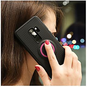 voordelige Galaxy S7 Hoesjes / covers-hoesje Voor Samsung Galaxy S9 / S9 Plus / S8 Plus met standaard / Ringhouder Achterkant Effen Zacht TPU