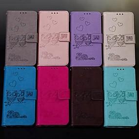 Недорогие Чехлы и кейсы для Huawei серии Y-Кейс для Назначение Huawei Huawei Honor 10 / Honor 10 Lite / Honor 9 Кошелек / Бумажник для карт / Флип Чехол Животное Твердый Кожа PU