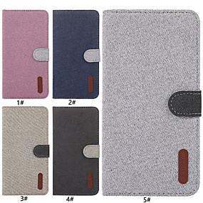 Недорогие Чехлы и кейсы для Huawei Mate-Кейс для Назначение Huawei Huawei Honor 9i / Mate 10 lite / Huawei Mate 20 lite Бумажник для карт / со стендом / Флип Чехол Однотонный Твердый текстильный