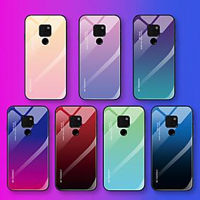 Недорогие Чехлы и кейсы для Huawei Mate-Кейс для Назначение Huawei Mate 10 pro / Mate 10 lite / Huawei Mate 20 lite С узором Кейс на заднюю панель Слова / выражения / Градиент цвета Мягкий Закаленное стекло