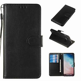 olcso Galaxy S4 tokok-Case Kompatibilitás Samsung Galaxy S9 / S9 Plus / S8 Plus Pénztárca / Kártyatartó / Ütésálló Héjtok Egyszínű Kemény PU bőr
