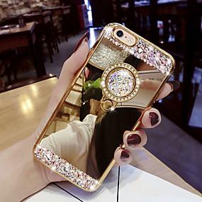 voordelige Galaxy S10 Hoesjes / covers-hoesje Voor Samsung Galaxy S9 / S9 Plus / S8 Plus Strass / met standaard Achterkant Glitterglans Hard Acryl