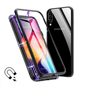 cheap Magnetic Case Coming-Magneto Magnetic Adsorption Metal Glass Case for Samsung Galaxy A70 A50 Back Cases Cover for Samsung Galaxy A40 A30 A20 A10 A9 2018 A7 2018