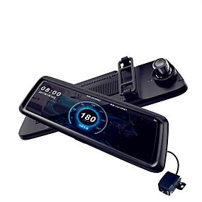 voordelige Auto DVR's-M10 1080p Auto DVR 170 graden Wijde hoek CMOS 10 inch(es) IPS Dash Cam met Nacht Zicht / Parkeermodus / Continu-opname Autorecorder