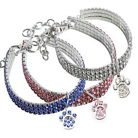 economico Prodotti Per Animali-Prodotti per cani Collari Collana Misura regolabile Impronta Decorativo Mosaico Lega Rosa Blu