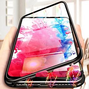 voordelige Galaxy S7 Hoesjes / covers-hoesje Voor Samsung Galaxy S9 / S9 Plus / S8 Plus Schokbestendig / Transparant Achterkant Transparant Hard Gehard glas / Aluminium