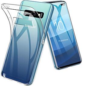 voordelige Galaxy S7 Edge Hoesjes / covers-hoesje Voor Samsung Galaxy S9 / S9 Plus / S8 Plus Schokbestendig / Ultradun / Transparant Achterkant Effen Zacht TPU