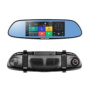 Недорогие Видеорегистраторы для авто-PHISUNG C08 1080p Full HD / с задней камерой / Загрузочная автоматическая запись Автомобильный видеорегистратор 140° Широкий угол КМОП-структура 7 дюймовый IPS / LED Капюшон с GPS / G-Sensor