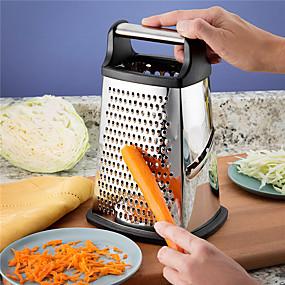 رخيصةأون أدوات & أجهزة المطبخ-4 الجانبين الفولاذ المقاوم للصدأ مربع مبشرة المهنية مع ضمان مدى الحياة استبدال الخضروات الفاكهة تقطيع الطعام للجبن