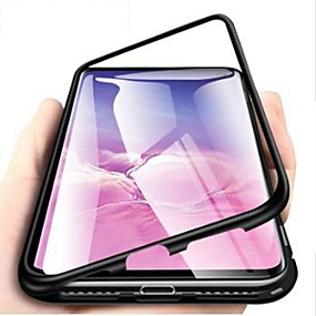 cheap Samsung-Magnetic Case For Samsung Galaxy S10E /S10 Plus /S10 5G 360-degree Single Side Tempered Glass Metal Phone Fundas Cover Magnet Cases for Samsung Galaxy S9 Plus / S9 / S8 Plus / S8 / S7 Edge / S7