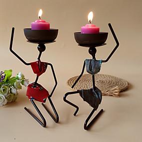 رخيصةأون Home Fragrances-شمعدانات الحديد المعاصرة الحديثة الشمعدانات / الشمعدان 1PC ، حامل شمعة / شمعة