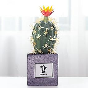 رخيصةأون أزهار اصطناعية-زهور اصطناعية 1 فرع كلاسيكي الحديث المعاصر النمط الرعوي نباتات النباتات العصارية أزهار الطاولة