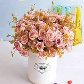 ieftine Flori Artificiale-5pc floare artificială 14 persană trandafir 7 furculiță a crescut flori artificiale decor ornamente de decor decor