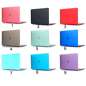 "cheap MacBook Air 11"" Cases-Scrub Solid Color For MacBook Pro Air 11-15 Computer Case 2018 2017 2016 Release A1989 / A1706 / A1708 With Touch Strip PVC Hard Shell"