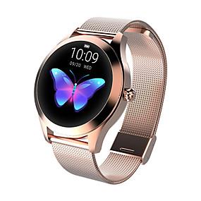 povoljno Tehnologija i gadgeti-kw10 pametni sat bt fitness tracker podrška obavijesti / monitor brzine otkucaja sporta sport od nehrđajućeg čelika bluetooth pametni sat kompatibilni ios / android telefoni