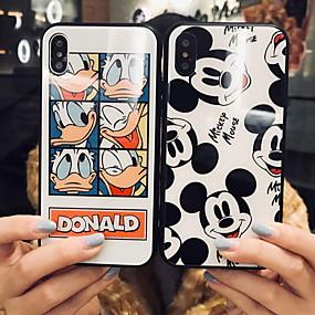 voordelige Opruiming-hoesje Voor Apple iPhone XS / iPhone XR / iPhone XS Max Patroon Achterkant Cartoon Hard Gehard glas