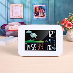 povoljno Mjerači temperature-bežični šareni lcd barometar alarm mjesec meteorološka stanica u / vanjska temperatura vlažnost vremenska prognoza temperatura vlažnost