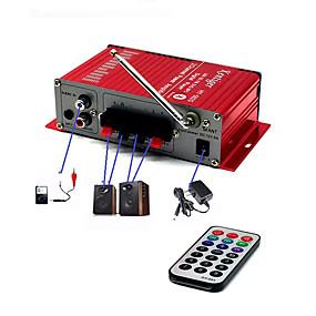 Недорогие Автоэлектроника-Автомобильный bluetooth usb fm усилитель мощности бытовой 12v 3a мини hi-fi стерео аудио усилитель с поддержкой дистанционного управления fm / mp3 / sd / usb / dvd