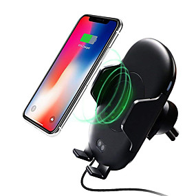 voordelige Autoladers-Qi draadloze auto mount infrarood bewegingssensor telefoon houder oplader voor auto air vent 10 w snel opladen voor samsung galaxy s9 s9 plus iphone x 8/8 plus qi ingeschakeld apparaat