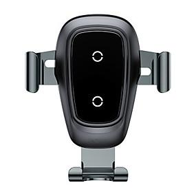 abordables Chargeurs de Voiture-chargeur de téléphone portable chargeur sans fil support de gravité en métal