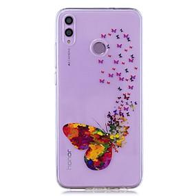 Недорогие Чехлы и кейсы для Huawei серии Y-чехол для huawei honor 8x / huawei p smart (2019) выкройка / прозрачная задняя крышка цвет бабочка soft tpu для mate20 lite / mate10 lite / y6 (2018) / p20 lite / nova 3i / p smart / p20 pro
