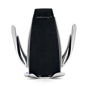 abordables Cargadores para Coche-gire el soporte inalámbrico de sujeción automático del receptor del cargador del coche para el iphone Samsung