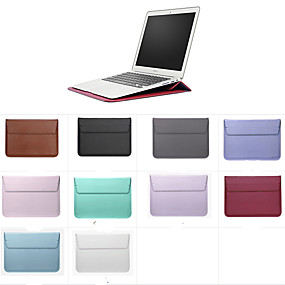 "cheap MacBook Air 11"" Cases-Solid Colored For MacBook Pro Air 11-15 Sleeves Folding Support Laptop Bag"