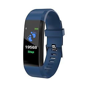 economico Braccialetti intelligenti-id115 plus schermo a colori braccialetto intelligente sport pedometro orologio fitness running walking tracker frequenza cardiaca pedometro banda intelligente