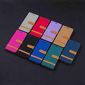 Недорогие Чехлы и кейсы для Galaxy Note 8-Кейс для Назначение SSamsung Galaxy Note 9 / Note 8 Кошелек / Бумажник для карт / со стендом Чехол Плитка Твердый текстильный