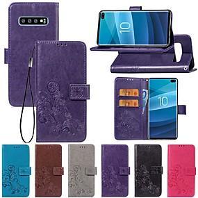 voordelige Galaxy S7 Hoesjes / covers-hoesje Voor Samsung Galaxy S9 / S9 Plus / S8 Plus Portemonnee / met standaard / Flip Volledig hoesje Effen / Vlinder / Bloem Hard PU-nahka