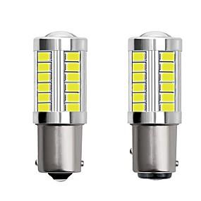 Недорогие Задние фонари-2шт 1156 ba15s 1157 bay15d автомобиль светодиодные лампочки 4 Вт 12 В smd 5730 33 светодиодные указатели поворота задние фонари стоп-сигналы стоп-сигналы