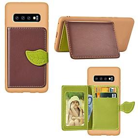 voordelige Galaxy S7 Hoesjes / covers-hoesje Voor Samsung Galaxy S9 / S9 Plus / S8 Plus Kaarthouder / Schokbestendig / met standaard Achterkant Landschap / Boom Hard PU-nahka