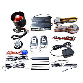 voordelige Auto-alarmen-smart key pke auto alarm motor start stop drukknop schoksensor systeem