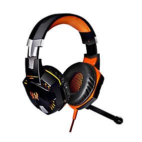 billige PC- og tablettilbehør-g2000 computer stereo gaming hovedtelefoner bedste casque deep bass spil øretelefon headset med mikrofon led lys til pc gamer