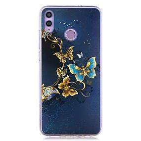 Недорогие Чехлы и кейсы для Huawei серии Y-чехол для huawei honor 8x / huawei p smart (2019) выкройка / прозрачная задняя крышка золотая бабочка мягкое тпу для mate10 pro / mate10 lite / y6 (2018) / y5 (2018) / p20 lite / p smart / p20 pro