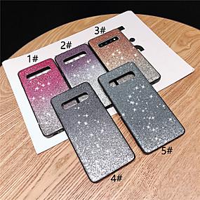 voordelige Galaxy S7 Edge Hoesjes / covers-hoesje Voor Samsung Galaxy S9 / S9 Plus / S8 Plus Strass / Glitterglans Achterkant Bloem / Kleurgradatie Hard TPU