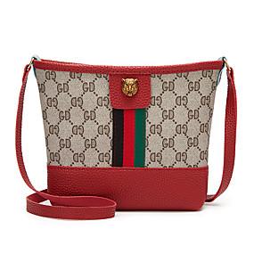 cheap Women's Bags-Women's Zipper PU(Polyurethane) / PU Crossbody Bag Black / Blushing Pink / Red / Fall & Winter
