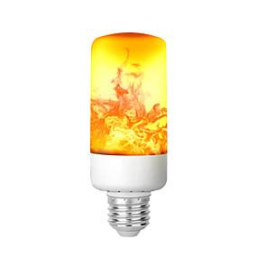 olcso LED gömbbúrás izzók-kwb láng tűzhatás vezetett izzó 6w 3 mód retro lángmentes izzók közepes csavar háztartási láng villog dekoratív légkör fény bár hotel éjszakai klubok kültéri kerti világítás