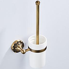 رخيصةأون أدوات الحمام-حاملة فرشاة التواليت تصميم جديد أنتيك / زهري نحاس 1PC - حمام / حمام الفندق مثبت على الحائط